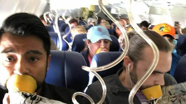 Foto do voo da Southwest revela desconhecimento de regras de segurança