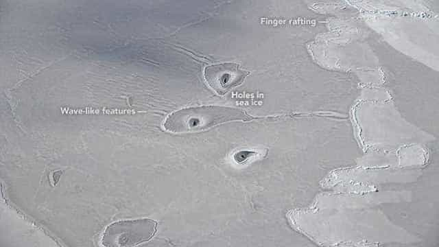 Cientistas fotografam formações misteriosas perto do pólo norte