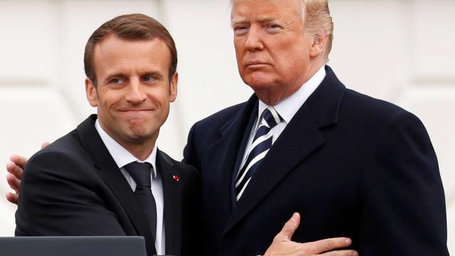 Após afagos, Macron pede a Trump que retome Acordo de Paris