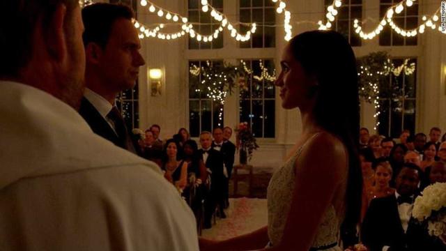 Meghan Markle se despede da série 'Suits' com casamento na ficção