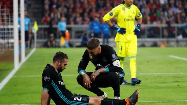 Lateral vai desfalcar o Real Madrid no jogo da volta contra o Bayern