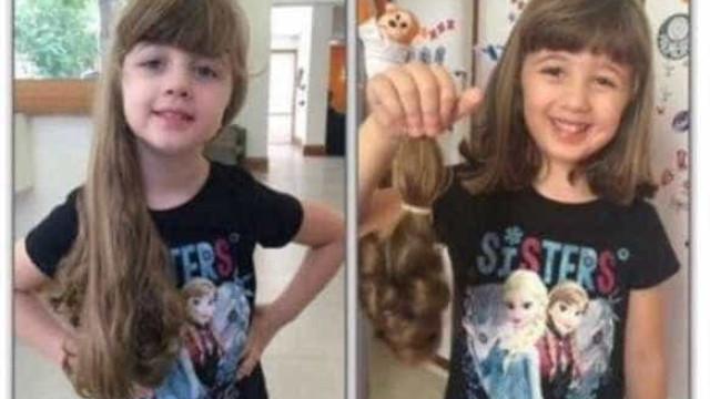 Menina descobre câncer após cortar cabelo para doar a crianças doentes