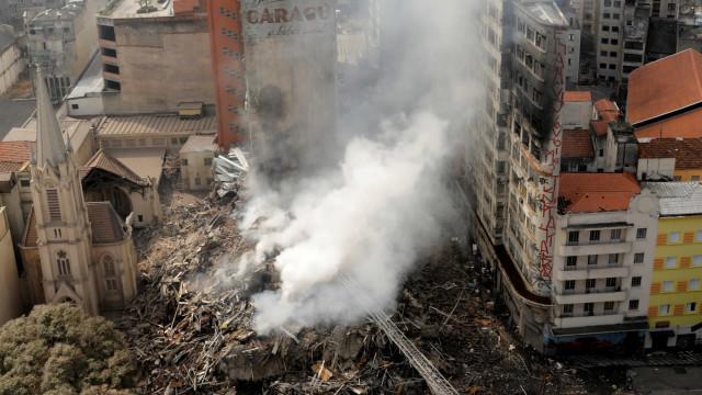Cai para 29 o número de possíveis vítimas na queda de prédio em SP