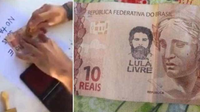 BC nega que cédulas carimbadas de 'Lula livre' percam valor