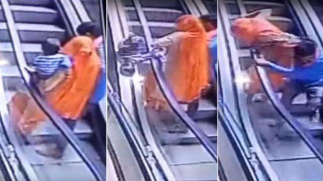 Bebê morre após cair do colo da mãe em escada rolante de shopping