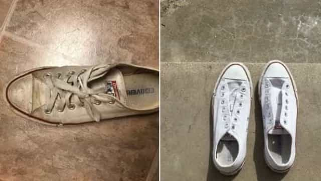 Internauta conta como deixar o tênis branco sem água sanitária
