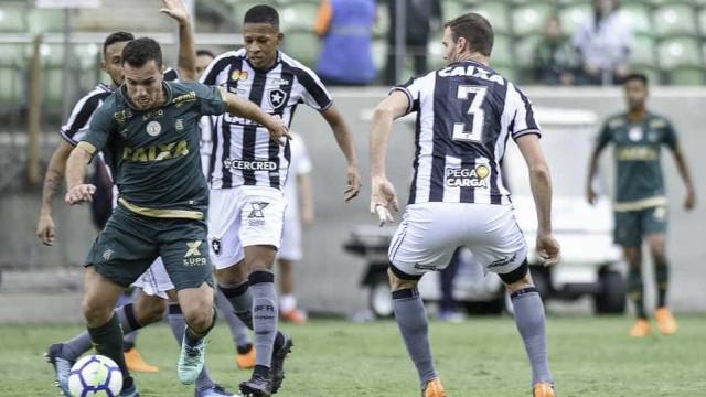 América-MG vence Botafogo e segue 100% em casa no Brasileirão