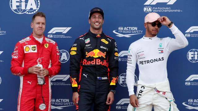 Ricciardo mantém domínio e garante a pole no GP de Mônaco