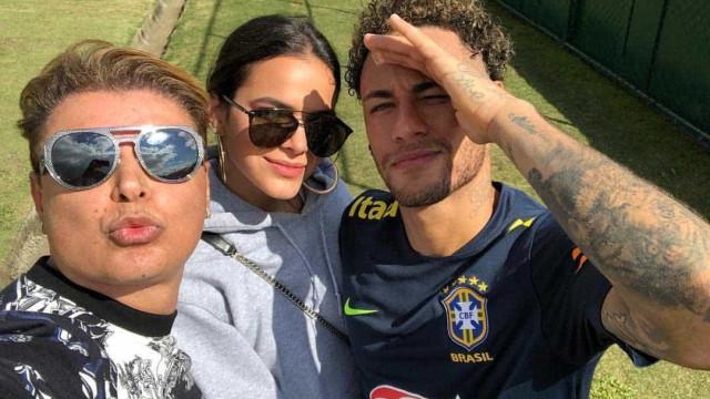 Neymar recebe Bruna e David Brazil na Granja