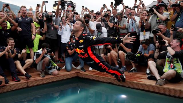 Ricciardo comemora fim do 'azar' em Mônaco e diz que conseguiu redenção