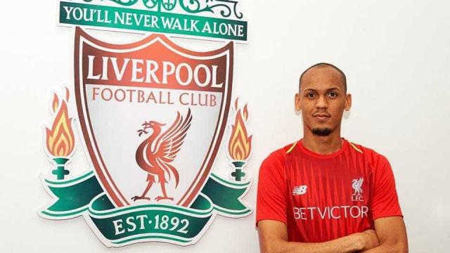 Fabinho é anunciado como reforço do Liverpool