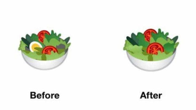 Para agradar veganos, Google tira ovo de emoji de salada