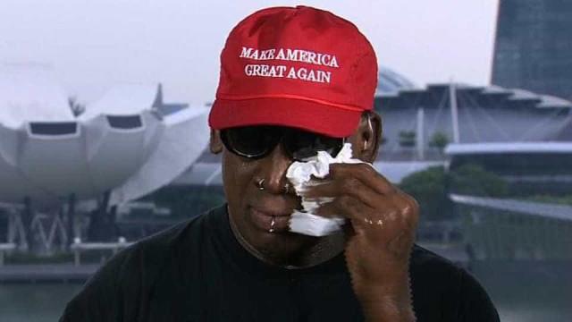 Dennis Rodman chora e diz que Kim 'está tentando mudar seu povo'