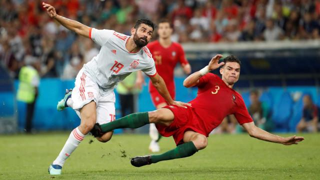 Veja as melhores fotos do clássico 'Portugal 3 x 3 Espanha'