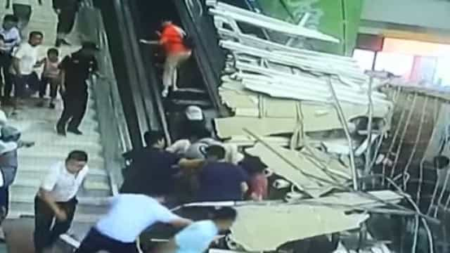 Teto de complexo turístico desaba e faz nove feridos na China
