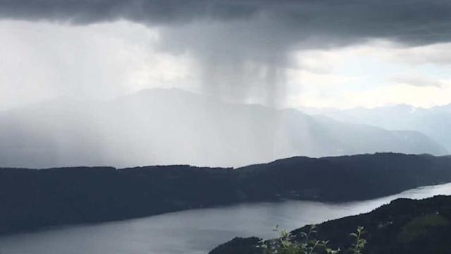 Timelapse mostra incrível movimento de tempestade na Áustria