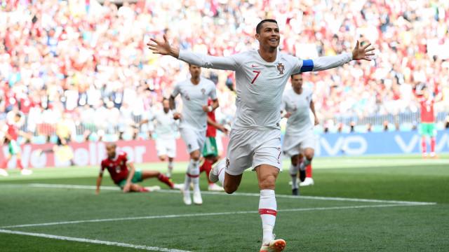Portugal vai vencendo com gol de Cristiano (sempre ele) Ronaldo