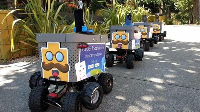 No Vale do Silício, robôs já entregam sua comida