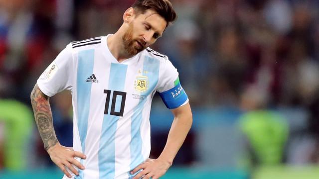 Zica da Argentina: imagens mostram a decepção de Messi