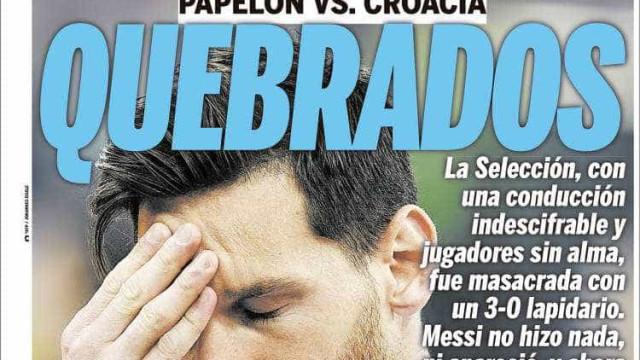 Veja a reação da imprensa argentina após vexame da seleção