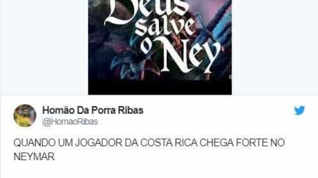 Brasileiros ficam preocupados com faltas em Neymar; memes
