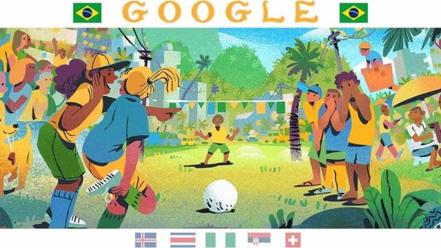 Buscador do Google ganha tema para celebrar o Brasil na Copa