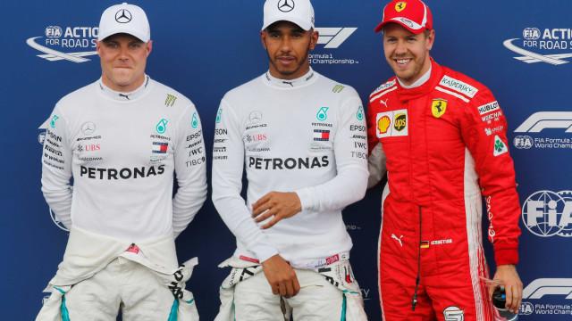 Hamilton garante pole position na França; Vetel é 3º