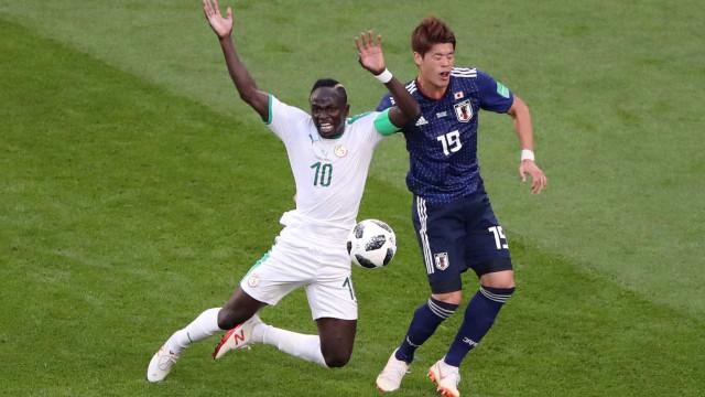 Senegal e Japão vão empatando em 1 a 1