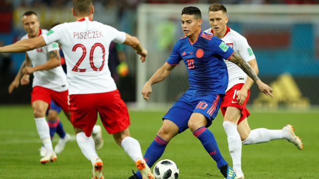 Colômbia e Polônia vão empatando em Kazan