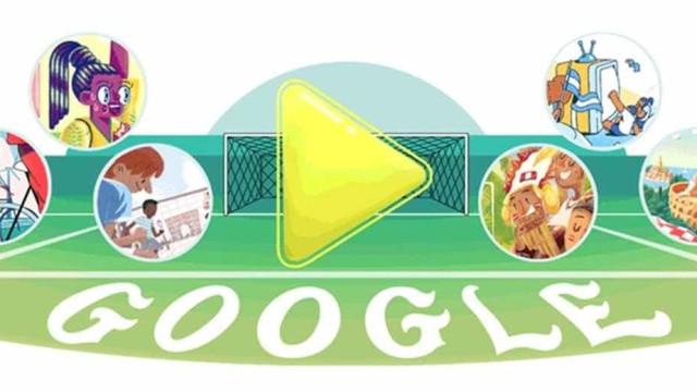 Buscador do Google homenageia as seleções que duelam neste sábado