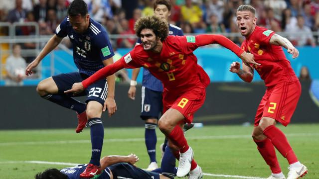 Bélgica vence Japão com gol no último minuto e enfrenta o Brasil