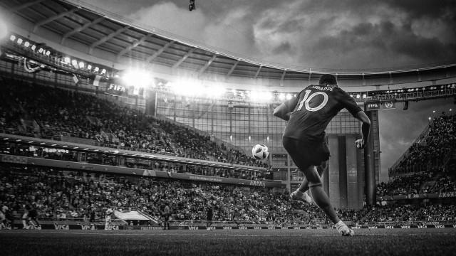 Show de imagens: a Copa do Mundo da Rússia em preto e branco