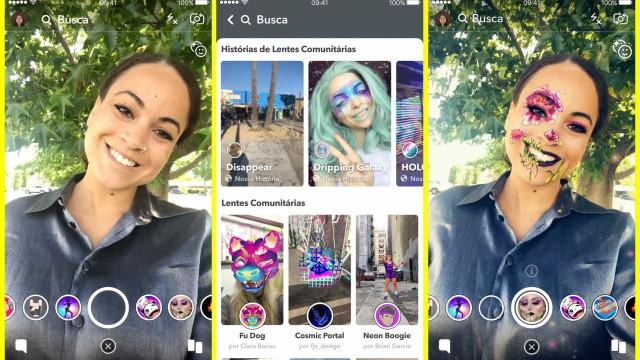 Snapchat: explore mais de 100 mil opções de lentes disponíveis
