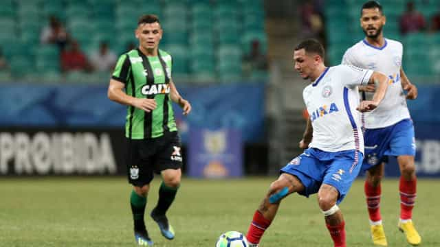 Bahia vence América-MG e se afasta da zona de rebaixamento