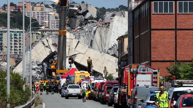 Sobe para 41 número de mortos em queda de ponte em Génova