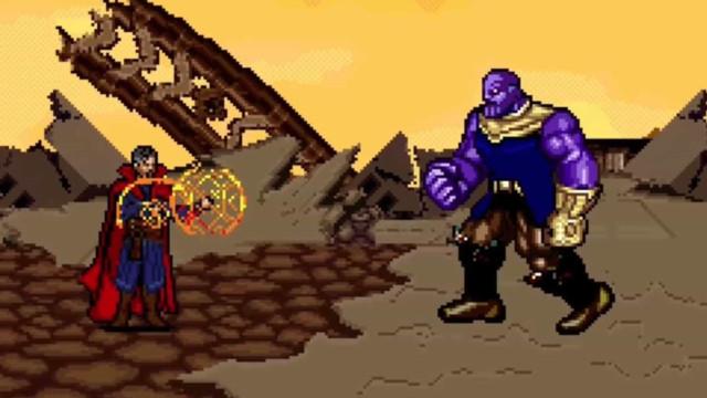 Vídeo recria batalha de Vingadores contra Thanos em 16-bit