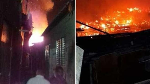 Incêndio destrói 17 moradias e deixa 42 desabrigados em Cubatão