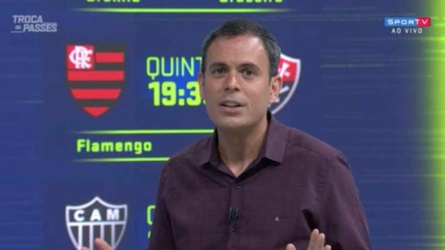 Apresentador do SporTV fica irritado com resposta de Andrés Sanchez
