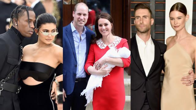 Veja os nomes dos bebês dos famosos em 2018