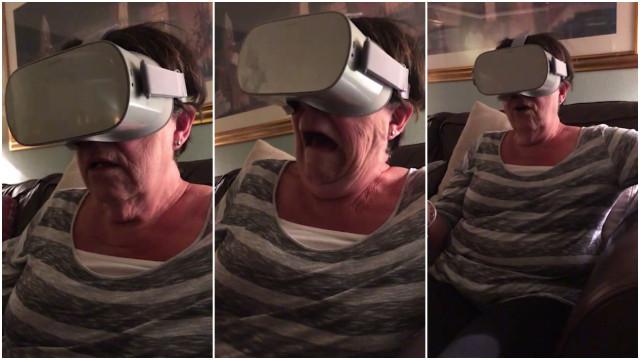 Avó entra em pânico com experiência em Realidade Virtual