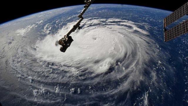 Imagem divulgada pela NASA mostra a força do furacão Florence