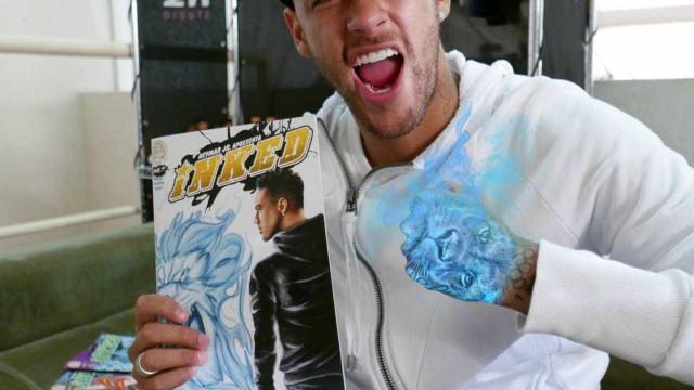 Neymar vira super-herói tatuado em revista em quadrinhos
