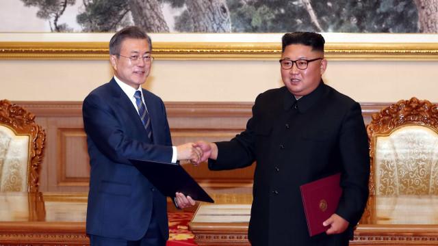 Kim Jong-un deseja 'paz duradoura', diz presidente da Coreia do Sul