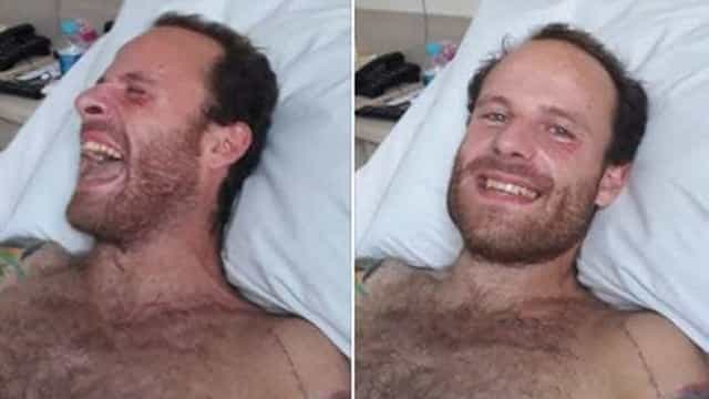 Fotos mostram Vitor Morosini pela primeira vez após cair de 5º andar