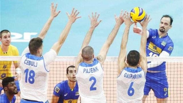 Brasil bate Eslovênia e garante classificação no Mundial de Vôlei