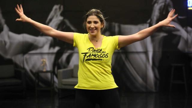 Cinco dias após cirurgia, Dani Calabresa volta ao 'Dança dos Famosos'