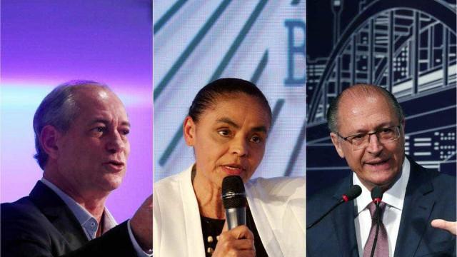 Polarização da campanha impõe desafio a Ciro, Alckmin e Marina