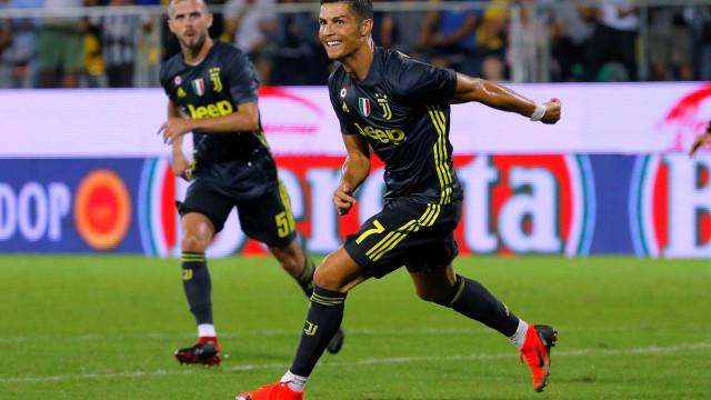 Com gol de Cristiano Ronaldo, Juventus vence e mantém 100% no Italiano