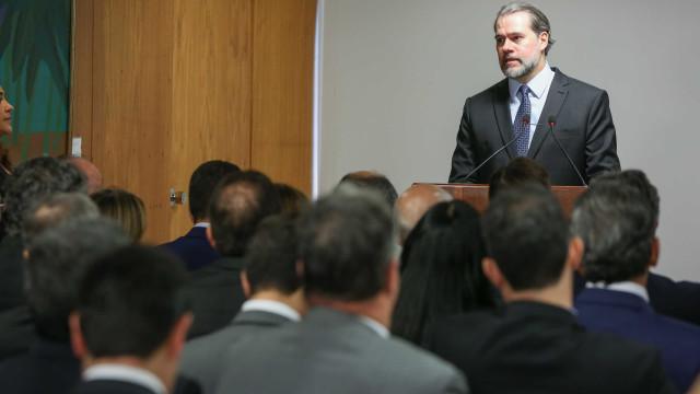 'Jogo democrático é difícil', diz Toffoli ao discursar como presidente