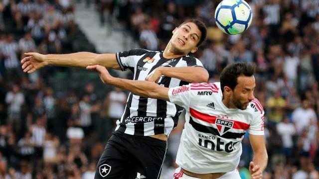 São Paulo empata com o Botafogo e deixa liderança para o Palmeiras